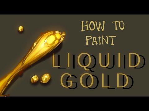 Simple Painting Tutorial Liquid Gold Paint Tool Sai