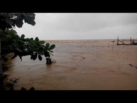 Koh Samui floods.  Lamai beach