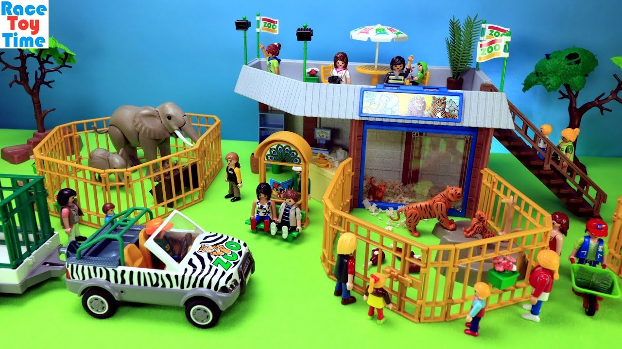 Playmobil Animals Zoo Building Playset Build And Play