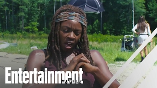 The walking dead's danai gurira on her best day on set   entertainment weekly