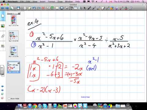 Multiplying, Dividing, Adding, Subtracting, Restrictions for Rational Expressions Grade 11 University Chapter 2 Review 03:01:12