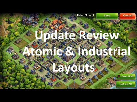 DomiNations - Update 5.5 Review - I'm Atomic now - Layouts