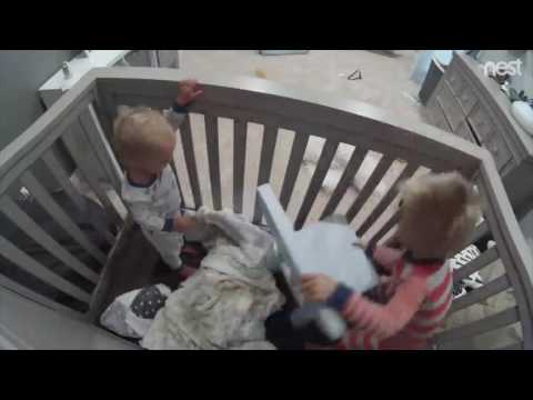 Caught On Camera Toddler Helps Baby Escape From Crib