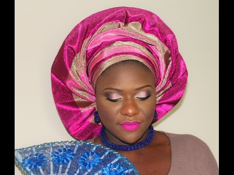 NIGERIAN OWAMBE MAKEUP AND FAN GELE