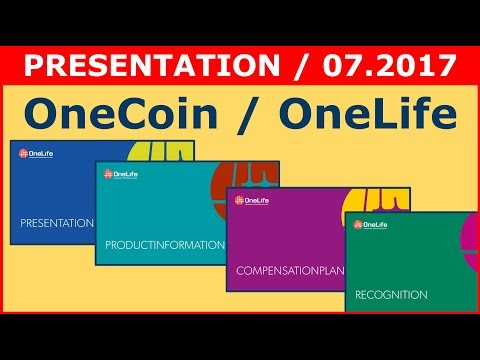 ⚀   OneCoin OneLife - PRESENTATION, LATEST VIDEO - July 2017   ⚀