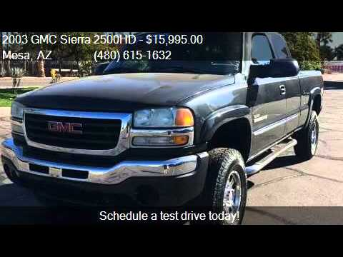 2003 Gmc Sierra 2500hd Base 4dr Extended Cab 4wd Lb For