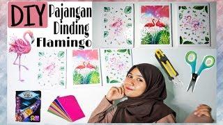 Diy Room Decor #part1 || Membuat Pajangan Dinding Flamingo Low Budget