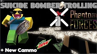 Suicide Bomber Trolling [Thank You] - Roblox Phantom Forces Funny Moments