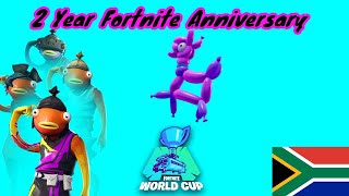 Fortnite's 2nd Birthday!| South African Streamer| Giveaway At 500 Subs