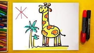 Рисуем Алфавит | Буквы Ё Ж З И | Урок рисования для детей