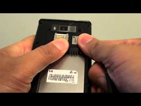 LG Optimus L7: How to Insert SIM card