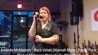 Amanda McMasters   Black Velvet Alannah Myles Papa's Place #Cabot #Arkansas #Karaoke by @KeysD