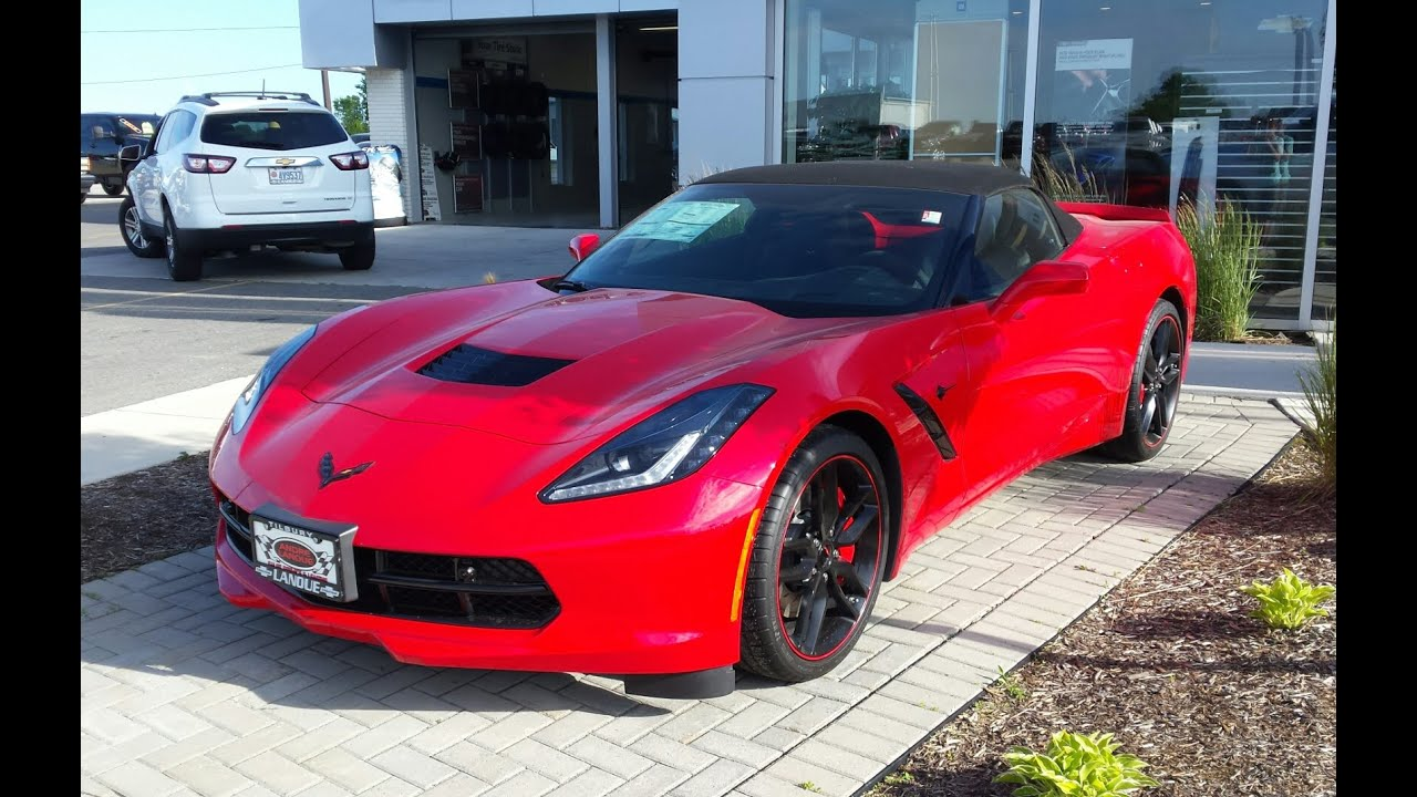Torch Red 2016 Corvette z51 - YouTube
