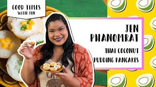 Thai Coconut Pudding Pancakes | Good Times with Jen