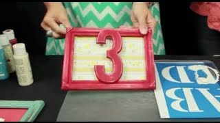How to make DIY Table Numbers for a Wedding