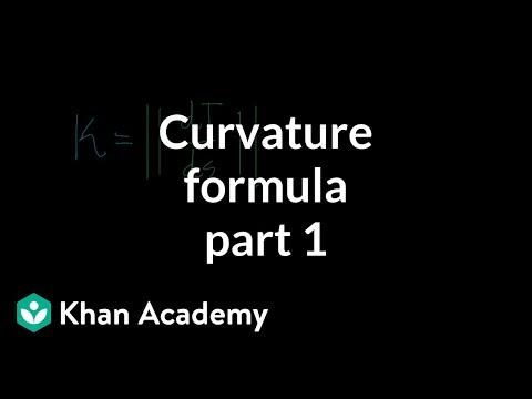 Curvature formula, part 1