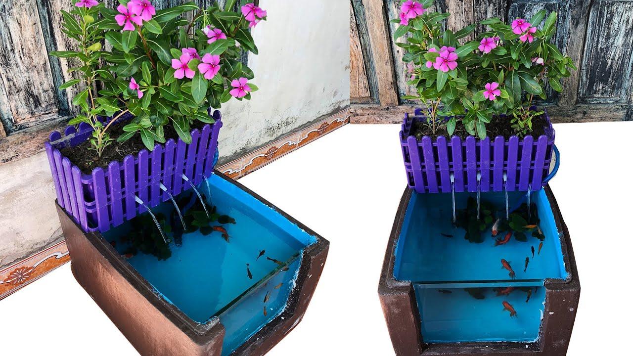Easy DIY Aquarium Fish Tank Waterfall From Foam Box | How To Make Aquascape Decoration Ideas