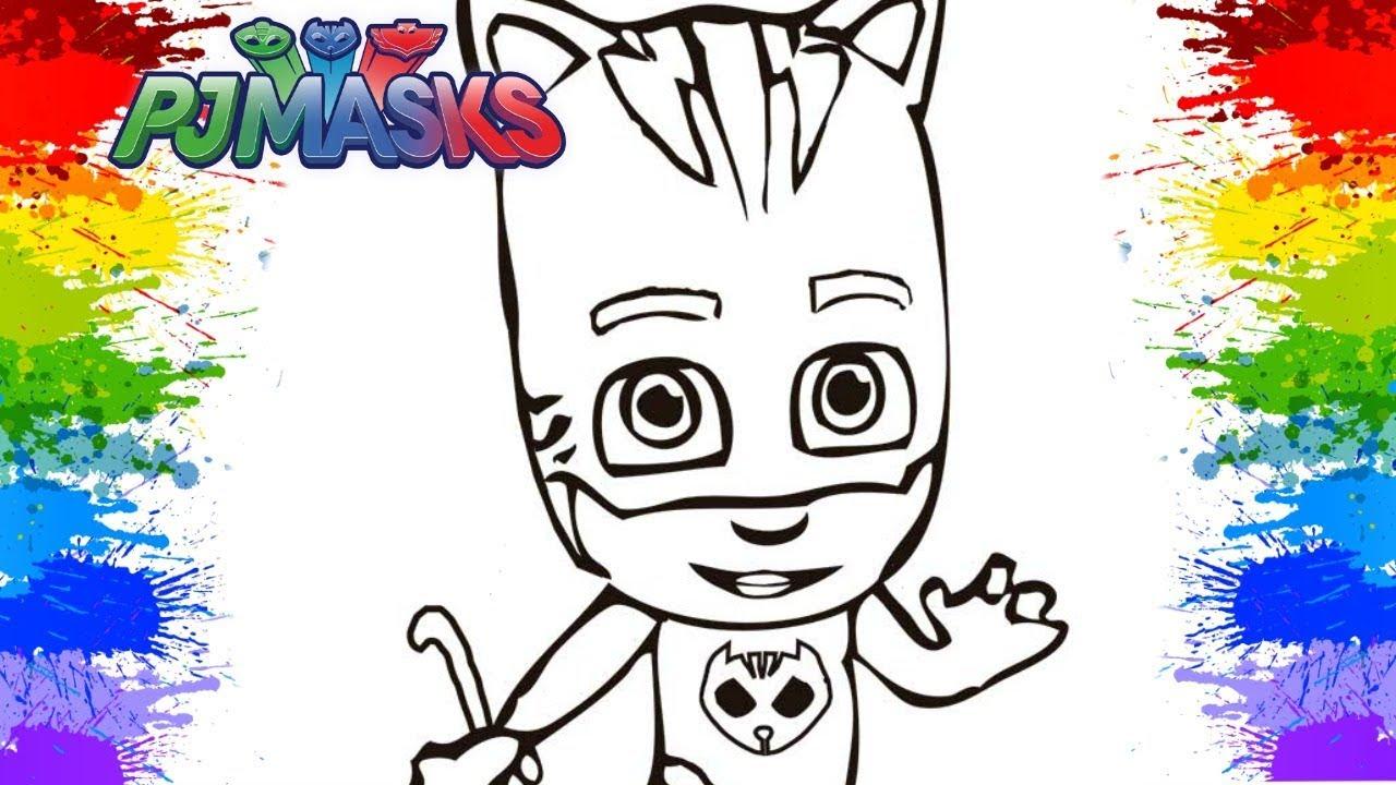Colorindo Menino Gato Pj Masks Dublado Pinturas Desenhos Videos