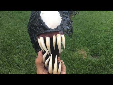 How to make a half venom mask (no latex,makeup or special materials needed)