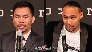 THE FULL MANNY PACQUIAO VS KEITH THURMAN LA PRESS CONFERENCE