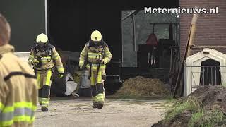 Gevaarlijke dampen maiskuilvoer vrijgekomen in Giethmen(Ov)