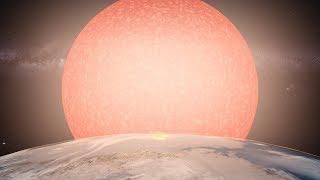 Como se verían las estrellas gigantes a la distancia de Plutón