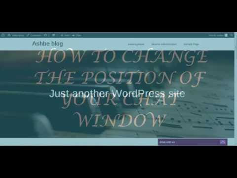 Change Chatbox Position In Live, Online, Support, Sales Chat Plugin On Wordpress Website.