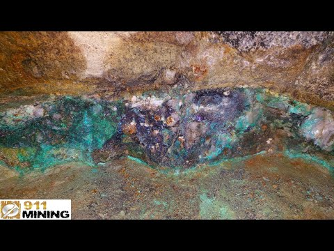 High Grade Gold, Silver & Copper Ore From Old Mine Dumps
