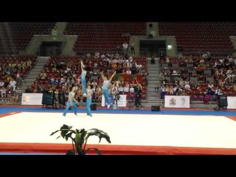 China - men's group - combined - 2013 ACRO World Cup - Sofia, Bulgaria