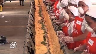 Venezuela rompe récords Guinness: elaboró la hallaca y el pan de jamón más grande del mundo