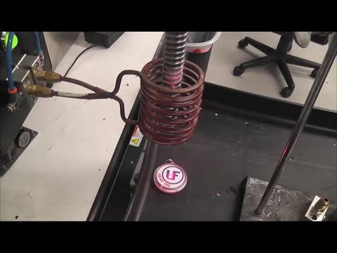 Preheating carbon steel threaded rods test1