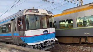 早朝に185系普通列車 到着発車シーン【JR四国】北伊予駅より