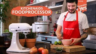 Der KitchenAid Food Processor Aufsatz 5KSM2FPA erklärt + Rezept!