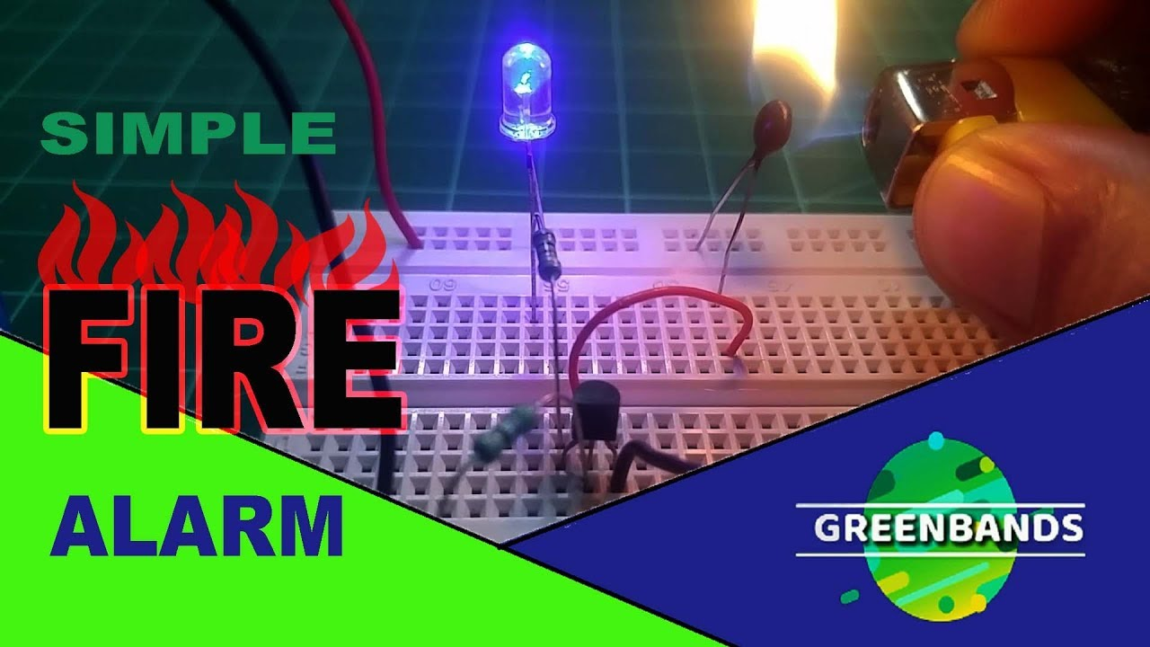 how to make a simple fire alarm using thermistor [ 1280 x 720 Pixel ]