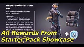 Fortnite Battle Royale - All Rewards From Starter Pack Showcase