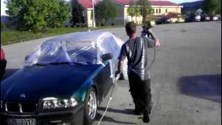 BMW E36 coupe....oprava laku střechy