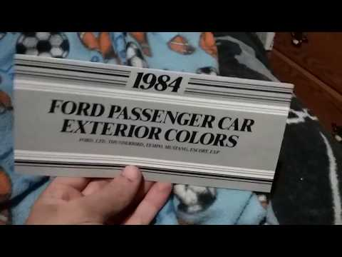 1984 Ford Color Code Book Exp Included Youtube