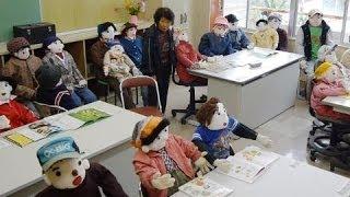 廃校校舎でかかし祭り 徳島