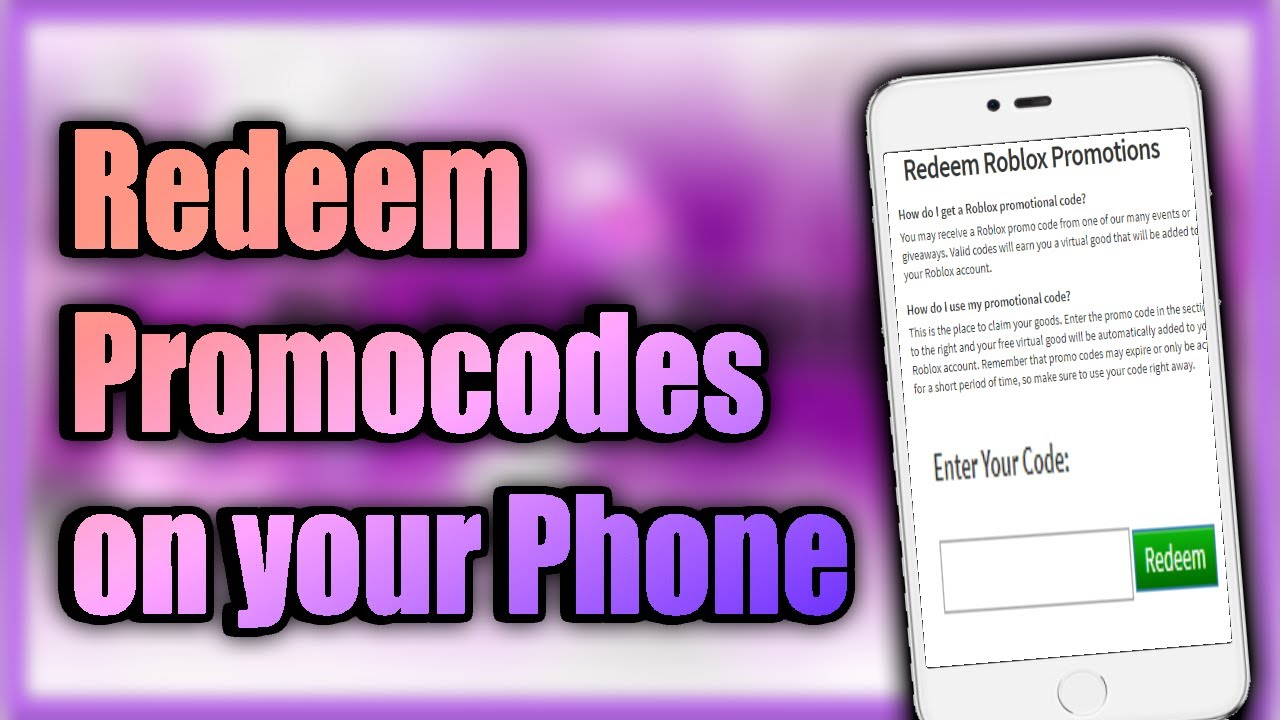 Redeem Roblox Promocodes on Mobile Devices (Android IPhone