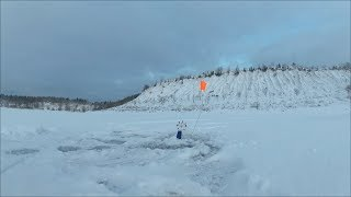 Рыбалка на карьере Ловим щуку на жерлицы и балансир