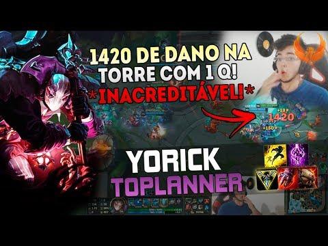 1420 DE DANO NA TORRE COM 1 Q! *INACREDITÁVEL* YORICK TOP GAMEPLAY [PT-BR]