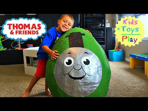 Thomas and Friends GIANT Surprise Egg | Thomas Train Biggest Percy Surprise Egg & Playtime