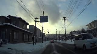 岩手県道24号線 二戸市坂本~二戸市中曽根 Tohoku Iwate Ninohe snow road drive thumbnail