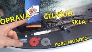 Oprava důlku v čelním skle |  Výsledek není tak špatný | Ford Mondeo