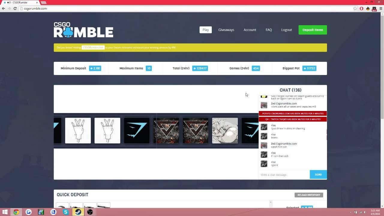 Csgorumble betting off track betting illinois online