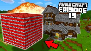 1,000 TNT vs MY OWN HOUSE! (in survival minecraft...)