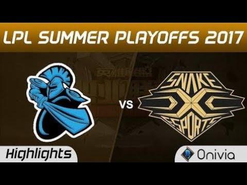 New  NB vs SS Highlights Game 3 LPL SUMMER PLAYOFFS 2017 NewBee vs Snake by Onivia