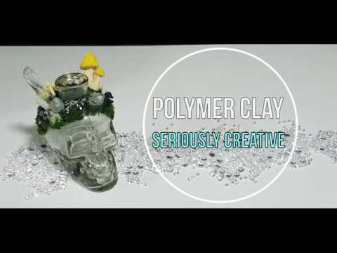 Sculpting Time Lapse- polymer clay and resin skull