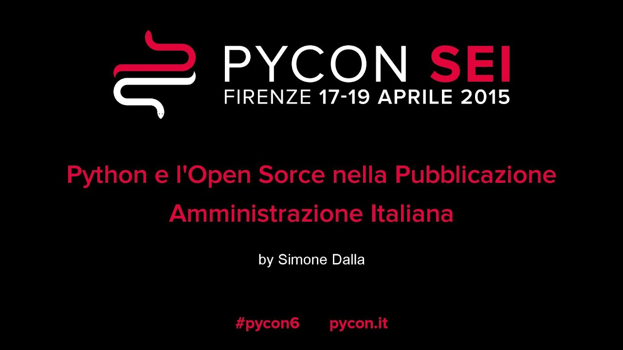 Image from Python e l'Open Sorce nella Pubblicazione Amministrazione Italiana