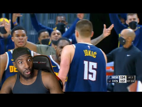 Game Of The Day! Jokic Drops 47pts 2OT! Denver Nuggets vs Memphis Grizzlies Highlights! REACTION!